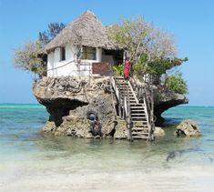 Amazing seafood restaurant on a rock, Zanzibar