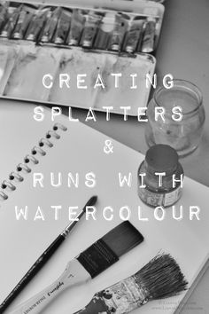 Today i'm going to show you three very basic ways you can use watercolour to create beautifully random splatter and run effects. I use mine as backgrounds for mixed media artwork because they can add a great touch of chaos and drama to a simple drawing or illustration. Drawing using watercolour splatters as a background. This is Bristol Board, Winsor & Newton Artists Watercolours and Turner Acrylic Gouache for the neon yellow. Firstly, i'm going to assume you know how to use watercolour and…