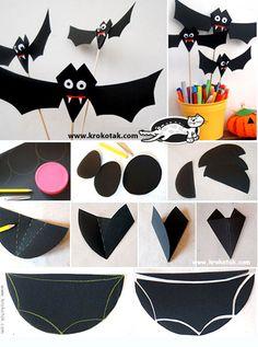 halloween diy kids crafts BATS in the ROOM