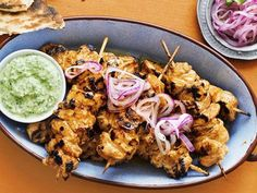 The pickled onion and cooling dip compliment the charcoal heat of the tandoori chicken. , What you will need 1 small red onion, very thinly sliced, 1 1/2 ta