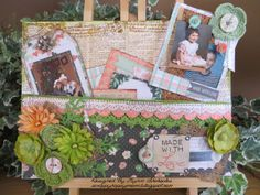 Blossoms Noteboard, Printers Tray and Flower Basket - Bo Bunny