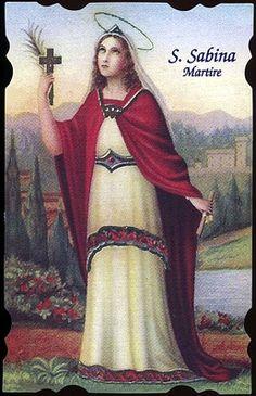 A St. Sabina Holy Card. Cool!