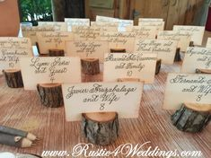 150 rustic place card holders tree card by ChurchHouseWoodworks