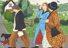 'Weekend Walk' by Dee Nickerson. Blank Art Cards By Green Pebble.