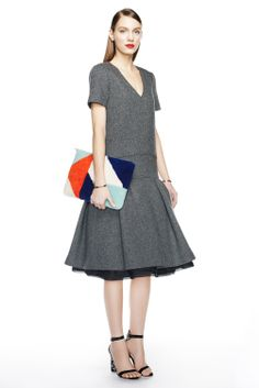 J.Crew women's fall/winter '14 collection. - I'm in love with the dropped waist and the tulle in the skirt.