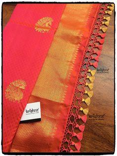 Saree Jacket Designs, Saree Tassels Designs, Saree Kuchu Designs, Silk Saree Blouse Designs, Fancy Blouse Designs, Traditional Silk Saree, Designer Blouse Patterns, Elegant Saree, Saree Styles