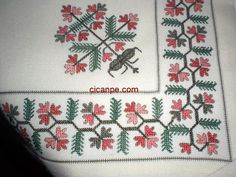 Turkish embroidery,similar with crossstitch Cross Stitch Borders, Cross Stitch Flowers, Cross Stitch Charts, Cross Stitching, Cross Stitch Patterns, Embroidery Patterns Free, Embroidery Needles, Cross Stitch Embroidery, Hand Embroidery