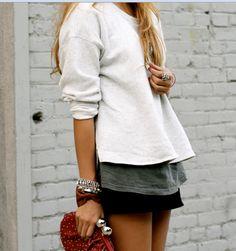 sweater layers.
