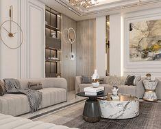 Luxury Homes Interior, Luxury Home Decor, Interior Design Living Room, Living Room Designs, Neoclassical Interior Design, Modern Classic Interior, Luxury Bedroom Design, Luxurious Bedrooms, Luxury Living