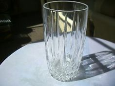 "Gorham Crystal - Sundance Pattern High Ball 6"" Glass"