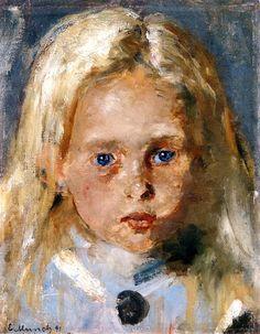 Young Blond Girl Edvard Munch - 1891