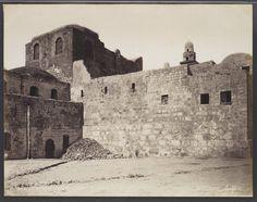 Jérusalem  (caserne). La citadelle, lieu de la condamnation de Jésus. Première station du Chemin de Croix / Stations Of The Cross - 1st Station Of The Cross