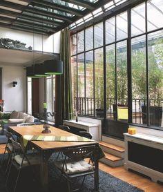 York sur Seine Parisian loft featuring New York-inspired decorParisian loft featuring New York-inspired decor Best Living Room Design, Living Room Designs, Style At Home, Home Interior, Interior Architecture, Interior Designing, Lofts, Loft Stil, New York Loft