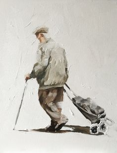A personal favourite from my Etsy shop https://www.etsy.com/uk/listing/491058277/old-man-walking-with-trolley-art-print-8