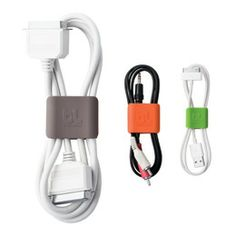 CableClips™ by Bluelounge - $9.95  Anything that makes my wires look tiny is awesome!