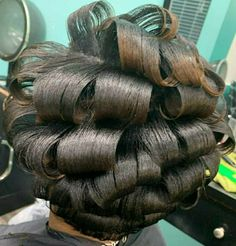 Updo Styles, Long Hair Styles, French Pleat, French Twists, Hair Setting, Hair And Beauty Salon, Roller Set, Curlers, Beauty Shop