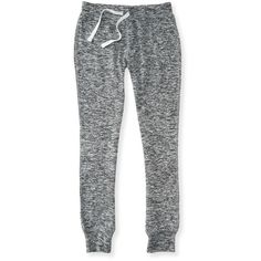 Aeropostale Kids' Activate Heathered Jogger Sweatpants ($12) ❤ liked on Polyvore featuring activewear, activewear pants and med heather grey