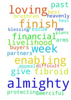 Almighty God we thank you for enabling us to finish - Almighty God we thank you for enabling us to finish the past week. Merciful Father we ask you to continue protecting and blessing us in the new week. Heavenly Father we humbly ask you to rescue us from the dire financial situation that has made our livelihood very difficult. Almighty God we appeal to you to get buyers for our land. Our loving Father we ask you to bless all our plans and give us the best. Lord of mercy we beseech you to…