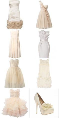 Each of these in blush and use as bridesmaid dresses. Perfect!