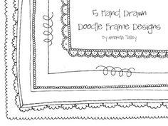 Cute Doodle Frames- Clip Art