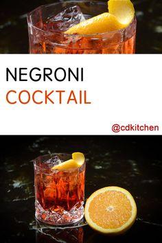 Made with orange peel, sweet red vermouth, gin, Campari | CDKitchen ...