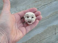 needle felting instructions, you will have to make a tube. You can use your needle or a toothpick.