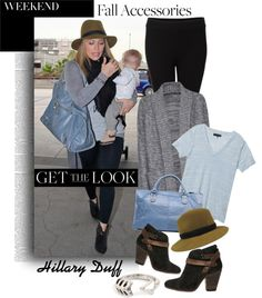 """get the look: Hillary Duff"" by maria-maldonado ❤ liked on Polyvore"