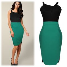 Contrast Straps Dress
