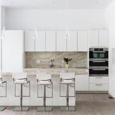 """Lee Kimball on Instagram: """"With summer finally upon us, we're looking back at this Pool House Kitchen we designed for our clients who wanted an additional space to…"""" Contemporary, Modern, Houzz, Home Kitchens, Kitchen Design, Kitchen White, Cabinet, Furniture, Space"""