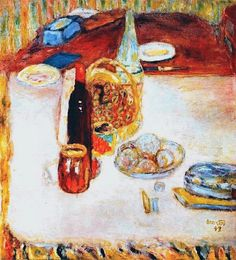 Pierre Bonnard - Still Life with Bottle of Red Wine 1942