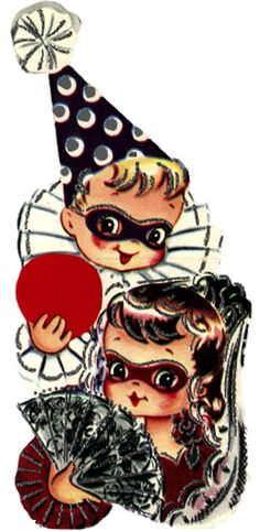 Vintage clip art for a masquerade party.  I can work with this!