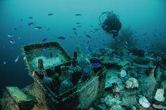 Mongol shipwreck, near Kyushu, Japan.