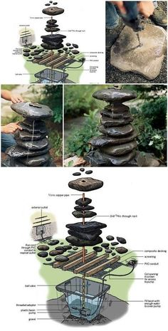 David and the Pond Project Modern is part of Diy fountain - David y el Proyecto Estanque David and the Pond Project Backyard Water Feature, Ponds Backyard, Backyard Landscaping, Landscaping Ideas, Diy Water Feature, Pergola Ideas, Diy Garden Fountains, Diy Fountain, Fountain Design