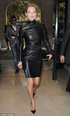 tight leather dress