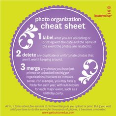 Tool: Free Printable Photo Organization Cheat Sheet