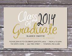 Modern Graduation Party Invitation- Printable