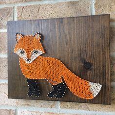 String Art - Standing Fox - Woodland Nursery - Rustic Accents