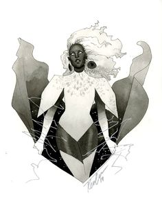 Storm HeroesCon 2014 sketch Basically had the go ahead to do whatever I wanted with her so I played with my redesign a bit.