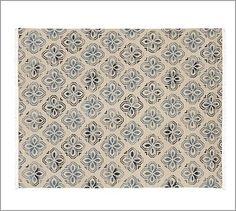 Alhambra Tile Dhurrie Rug - Blue #potterybarn