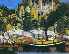 E.J. Hughes (1913-2007) - Canadian Landscape Painter