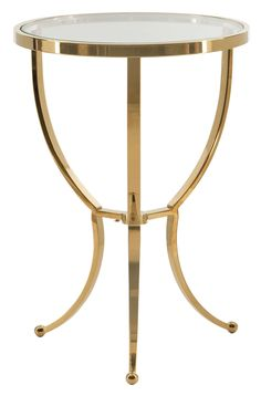 Shop for the Bernhardt Interiors - Adella Round Chairside Table in Bright Brass Finish at Stuckey Furniture - Your Mt. Pleasant and Stuckey, South Carolina Furniture & Mattress Store Gold End Table, Gold Accent Table, Accent Tables, Brass Side Table, Gold Furniture, Fine Furniture, Furniture Ideas, Small Tables, End Tables
