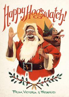 Harga's Hella House of Ribs Christmas 2017, Christmas Decor, Discworld Characters, Terry Pratchett Discworld, Ribs, Drake, Christmas Ideas, Creepy, Stamps