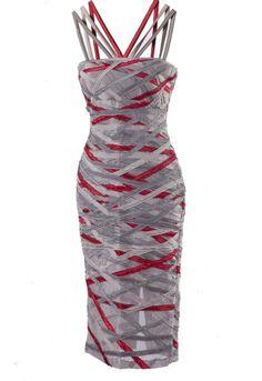 Dress Tania, Romyda Keth for Jaya Concept.  It would take a L-O-N-G time to sew ribbons on to the fabric before making a dress like this, but I like it!