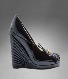 YSL Myranda High Heel Patent Wedge  NOW THATS A WEDGE!!