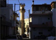 #Ierapetra, Tzami.   Ιεράπετρα Τζαμί   Photo by Olivier Mondet Cn Tower, Utility Pole, Building, Travel, Viajes, Buildings, Trips, Construction, Tourism