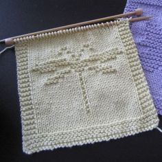 Free pattern for a knit dragonfly washcloth.: