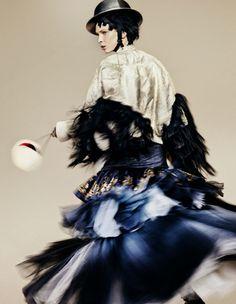 Kristina Salinovic wears: John Galliano, Dior, Eden, Louboutin, Styling: Damian Foxe, photo: Benjamin Lennox 2010