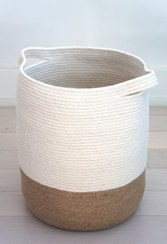 Small Jute and cotton rope basket More