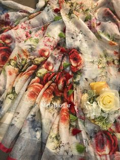 Vintage Bedspread, Fabric Wallpaper, Floral Prints, Pure Products, Sarees, Count, Free Shipping, Etsy, Floral Patterns