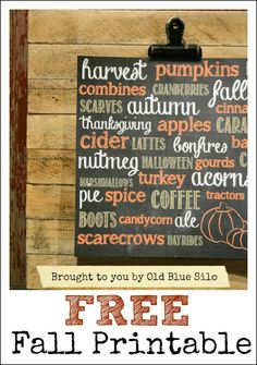 old blue silo: mini pallets & fall printable